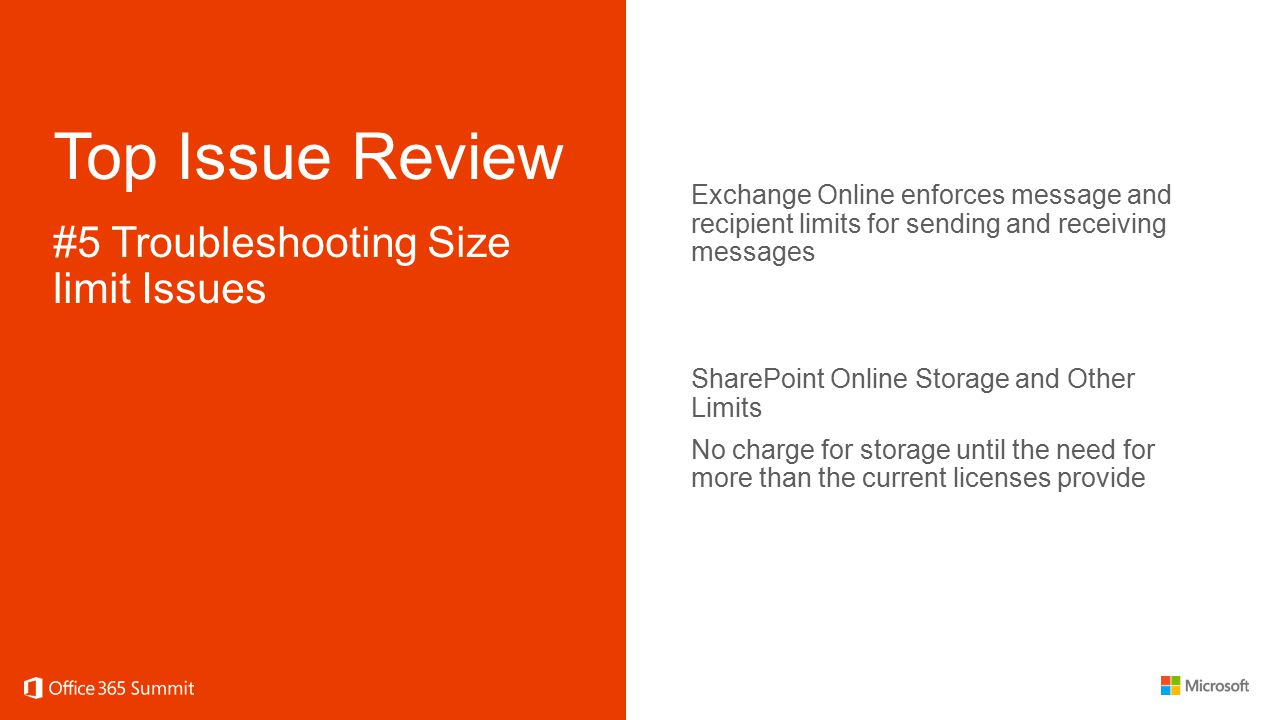 Top Issue Review #5 Troubleshooting Size limit Issues