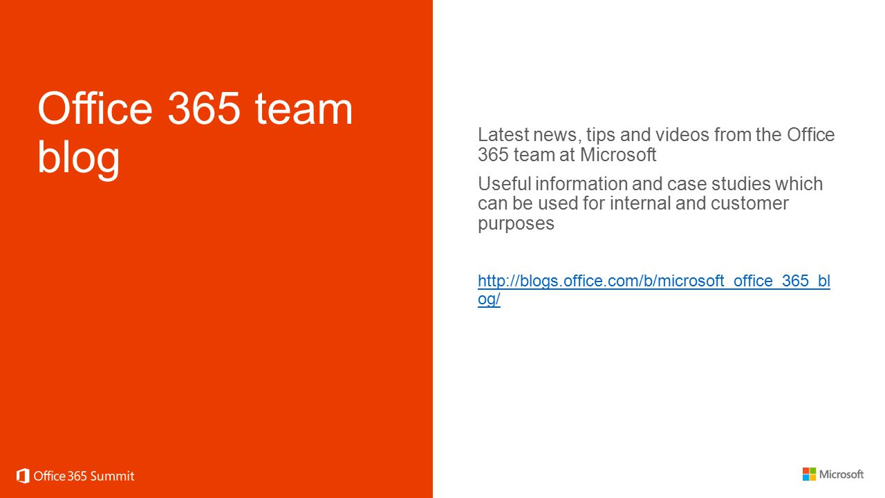 Office 365 team blog Latest news, tips and videos from the Office 365 team at Microsoft.