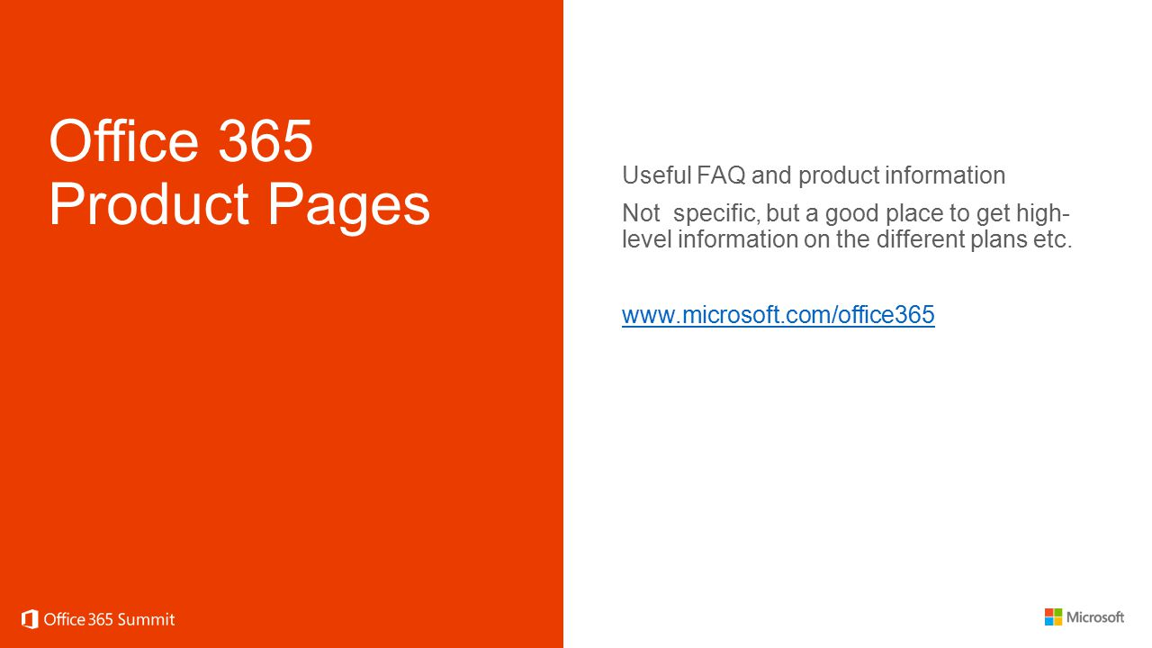 Office 365 Product Pages Useful FAQ and product information