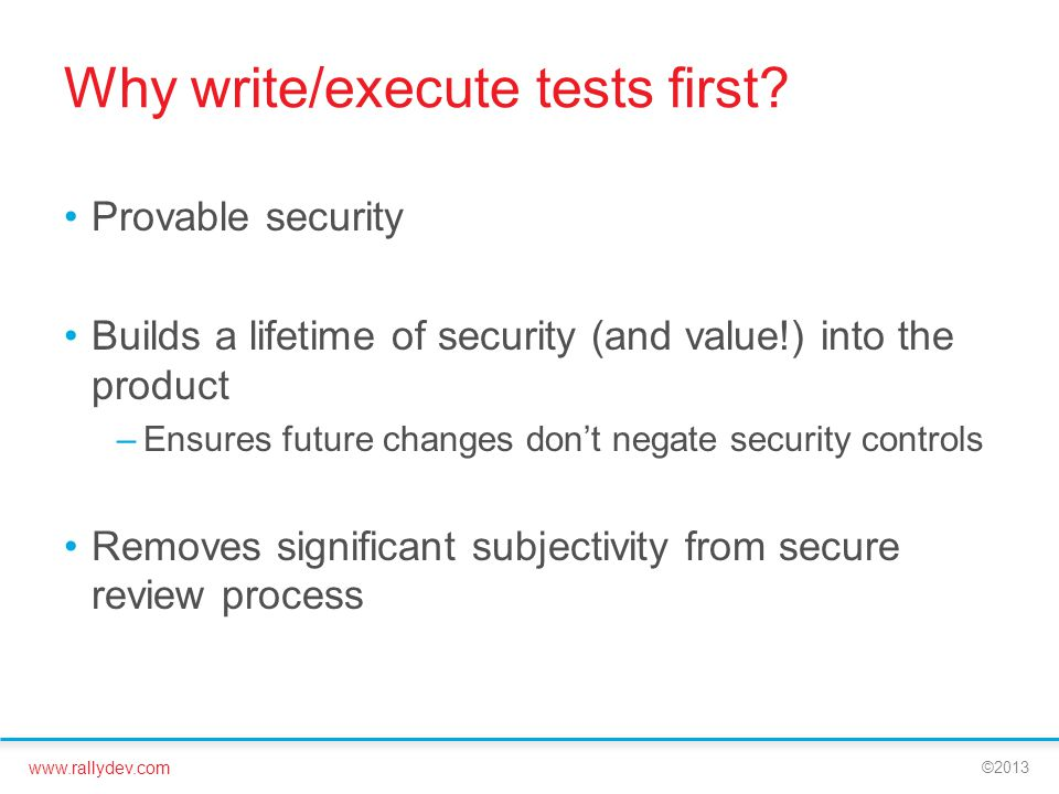 Why write/execute tests first