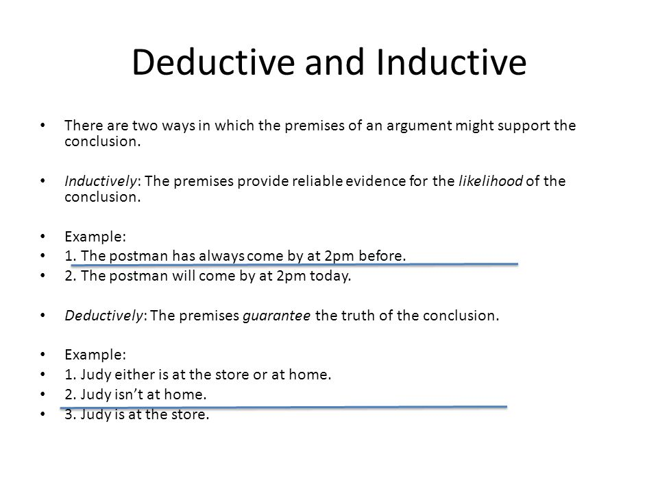 Deductive and Inductive