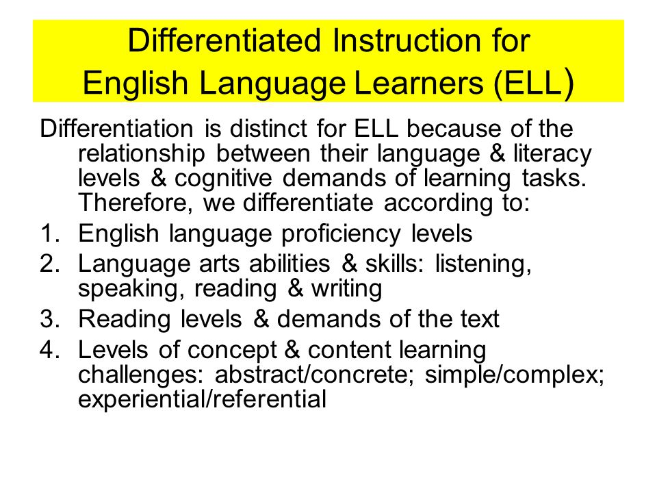 Planning By Objectives For Instruction For Ell Ppt Video Online