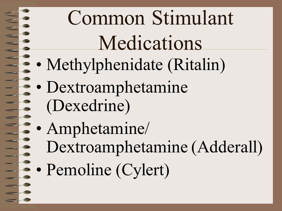 Common Stimulant Medications