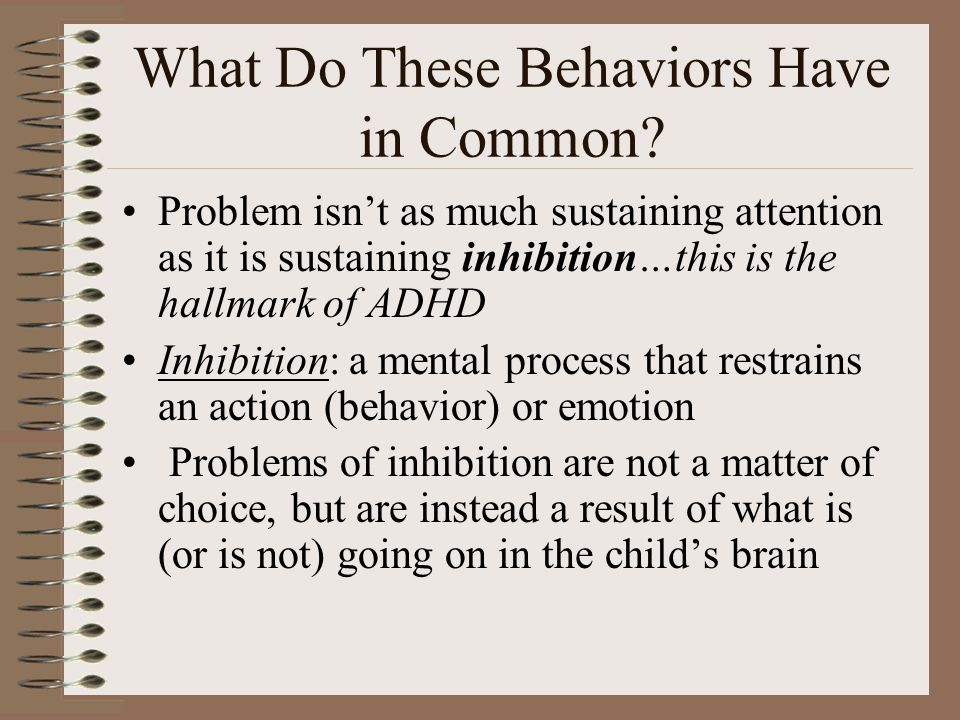 What Do These Behaviors Have in Common