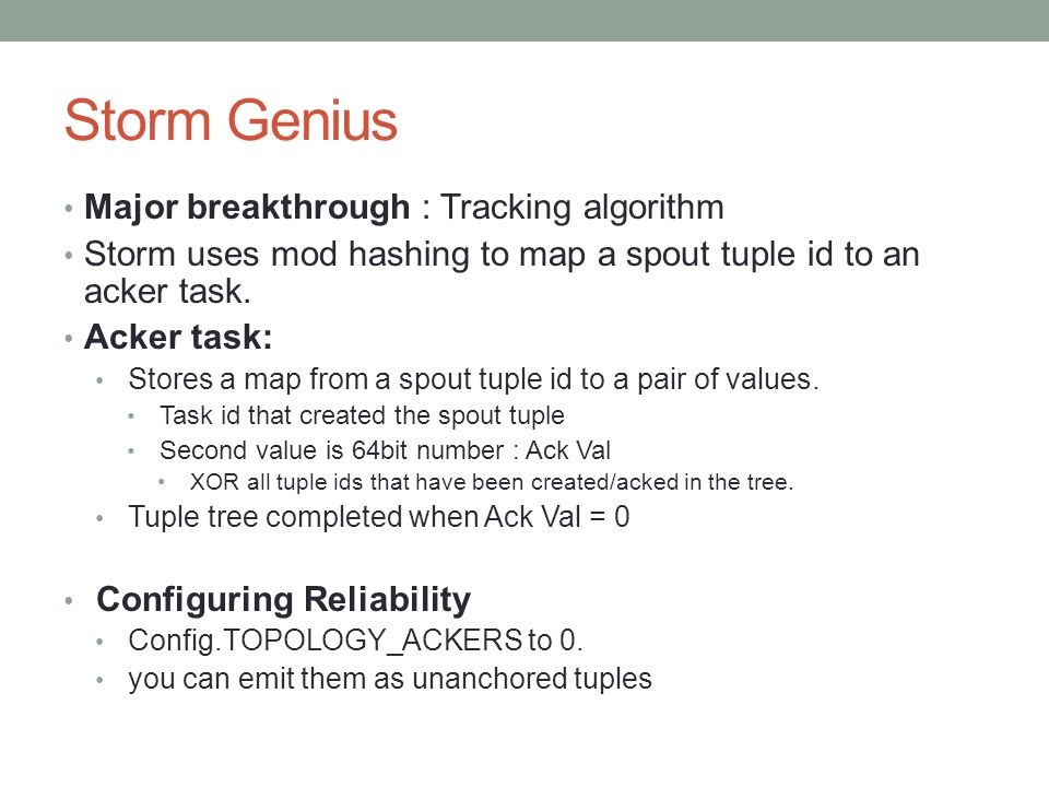 Storm Genius Major breakthrough : Tracking algorithm