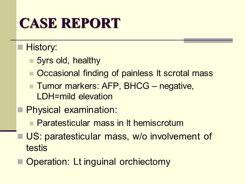 CASE REPORT History: Physical examination: