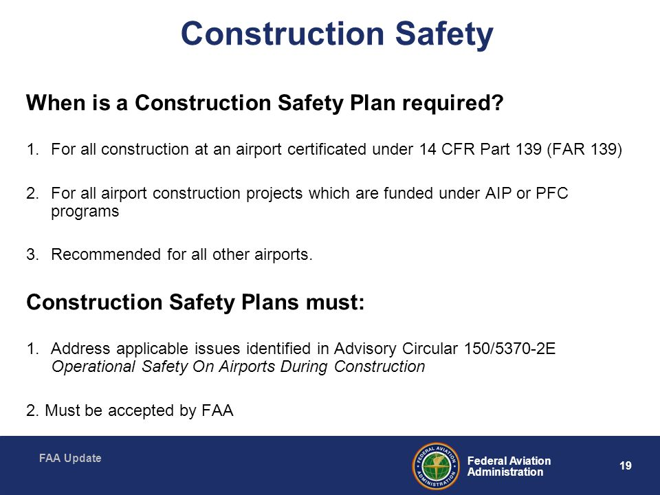 Construction Safety When is a Construction Safety Plan required