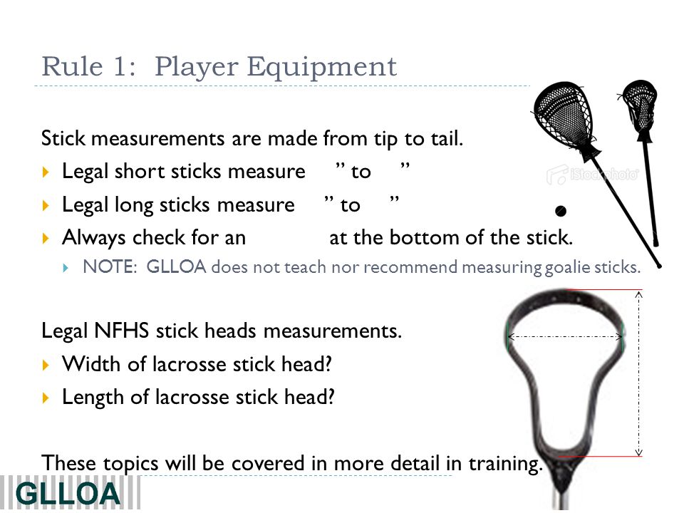 Rule 1: Player Equipment