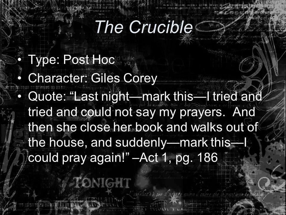 giles corey the crucible