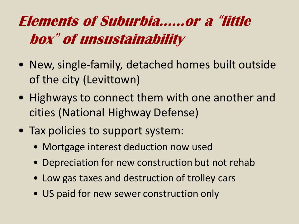 Elements of Suburbia……or a little box of unsustainability