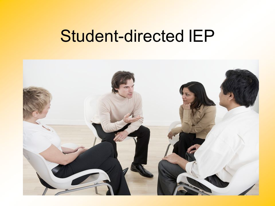 Student-directed IEP