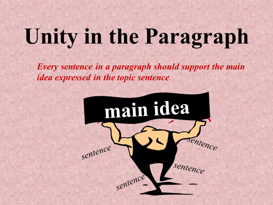 Unity in the Paragraph main idea