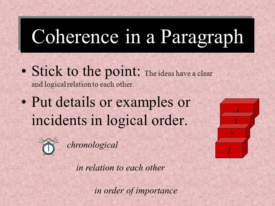 Coherence in a Paragraph