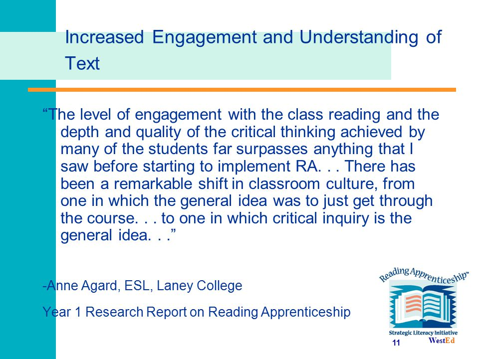 Increased Engagement and Understanding of Text