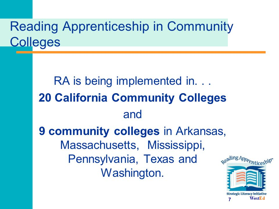 Reading Apprenticeship in Community Colleges