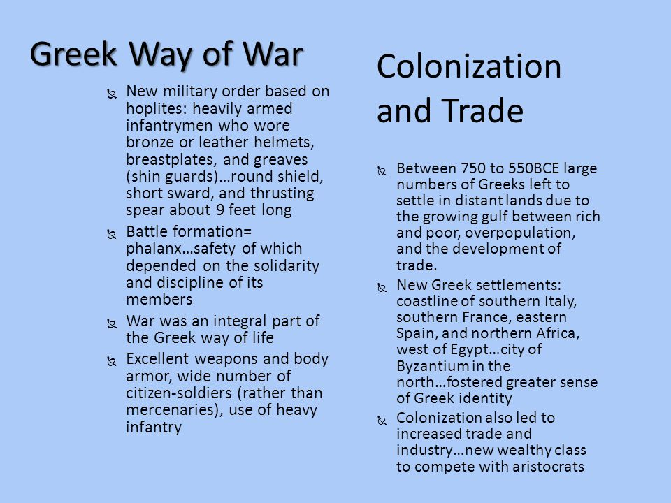 Colonization and Trade