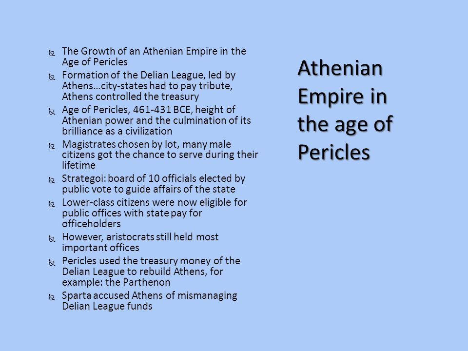 Athenian Empire in the age of Pericles