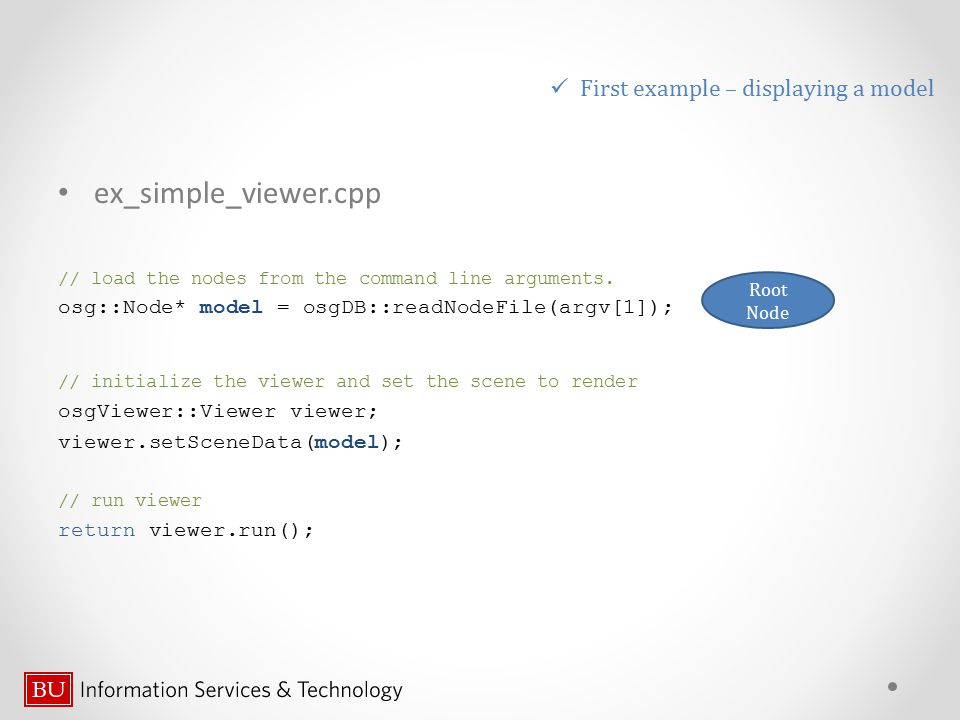 ex_simple_viewer.cpp First example – displaying a model