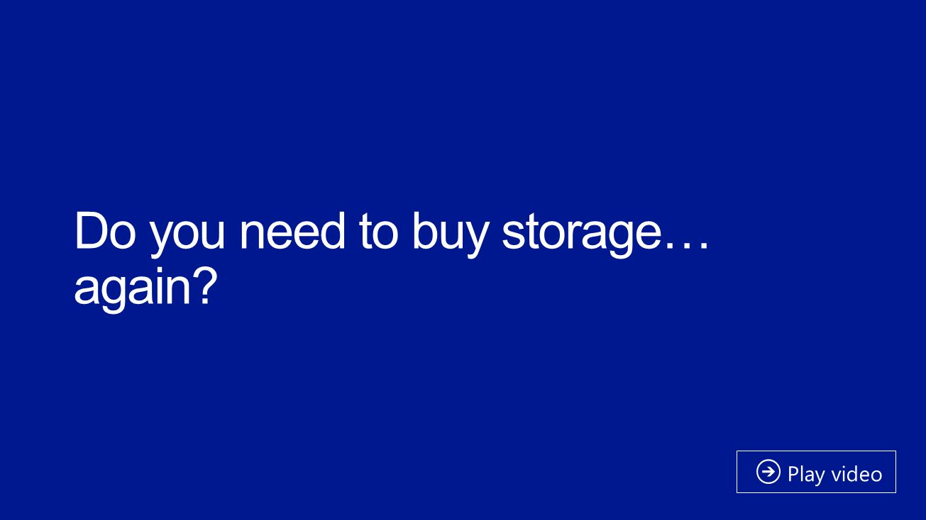 Do you need to buy storage… again