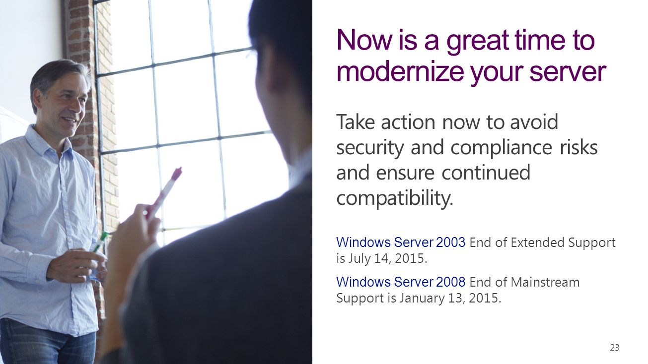 Now is a great time to modernize your server