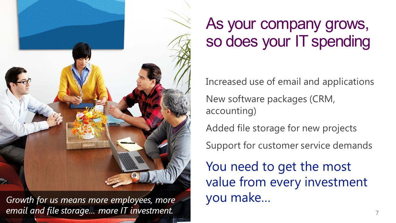As your company grows, so does your IT spending
