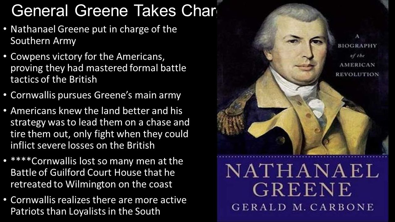 General Greene Takes Charge
