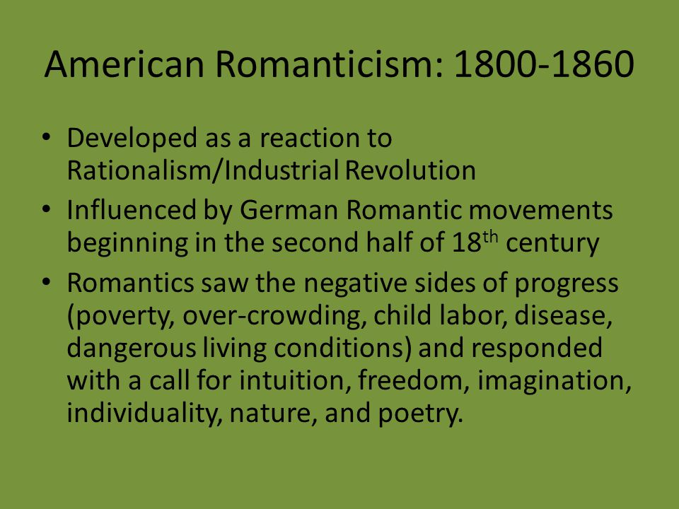 what was romanticism a reaction to