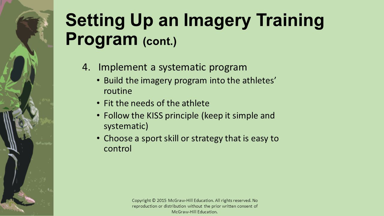 Setting Up an Imagery Training Program (cont.)