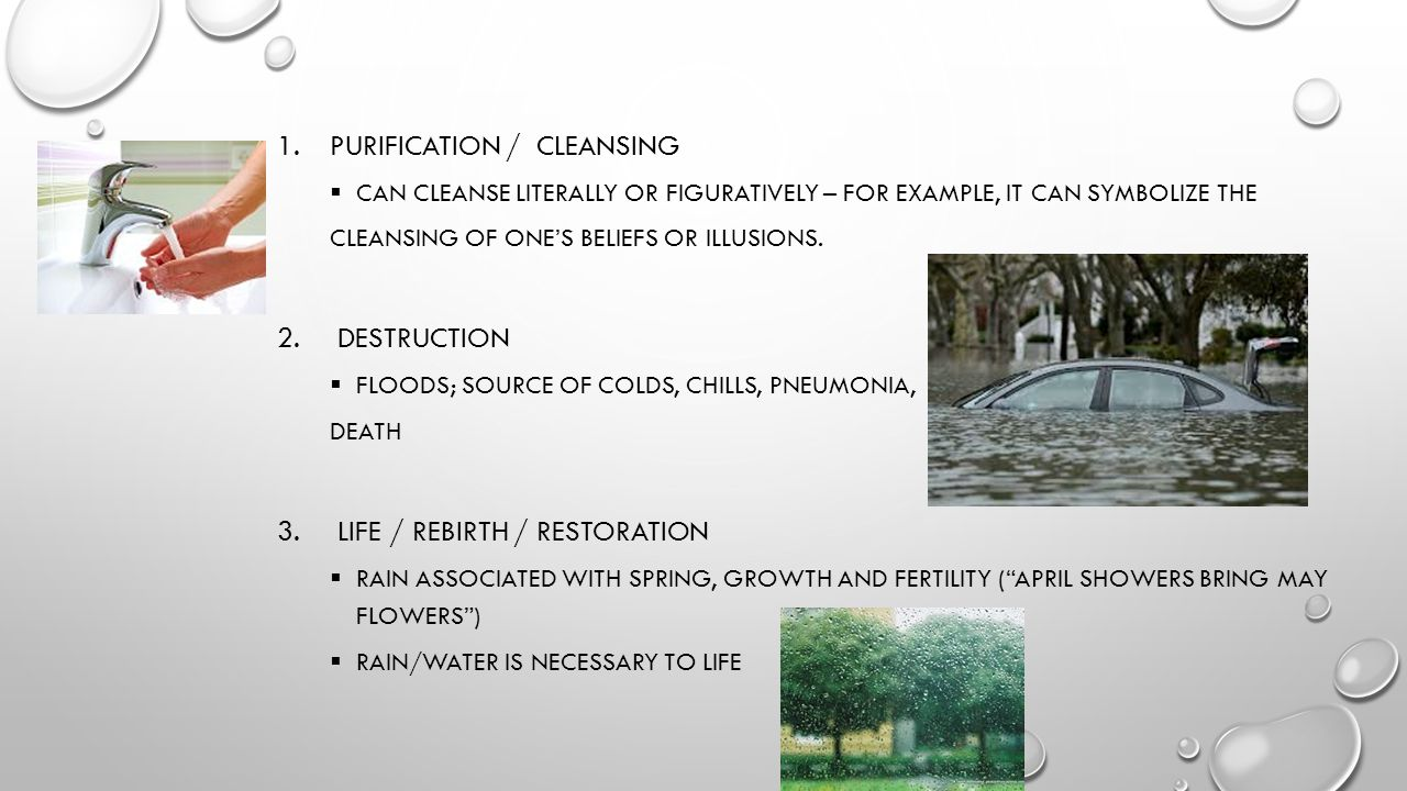 Purification / cleansing