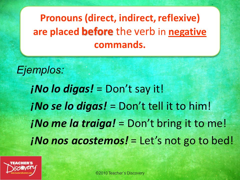 Pronouns (direct, indirect, reflexive)