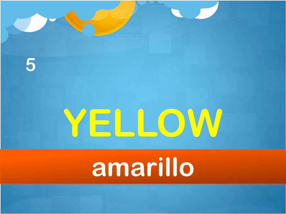 5 YELLOW amarillo