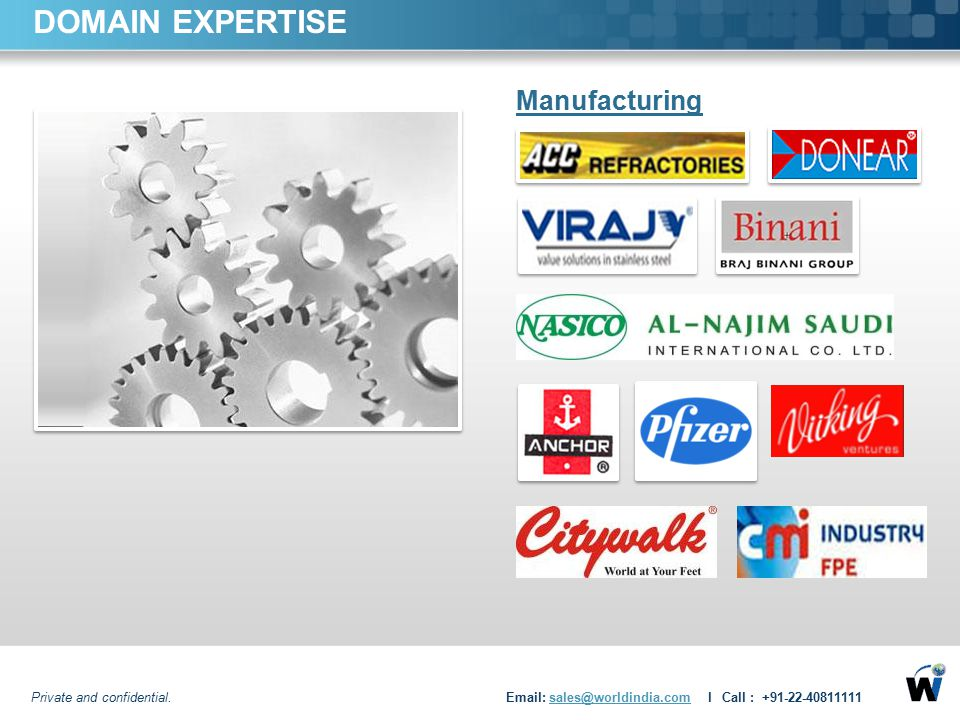 DOMAIN EXPERTISE Manufacturing