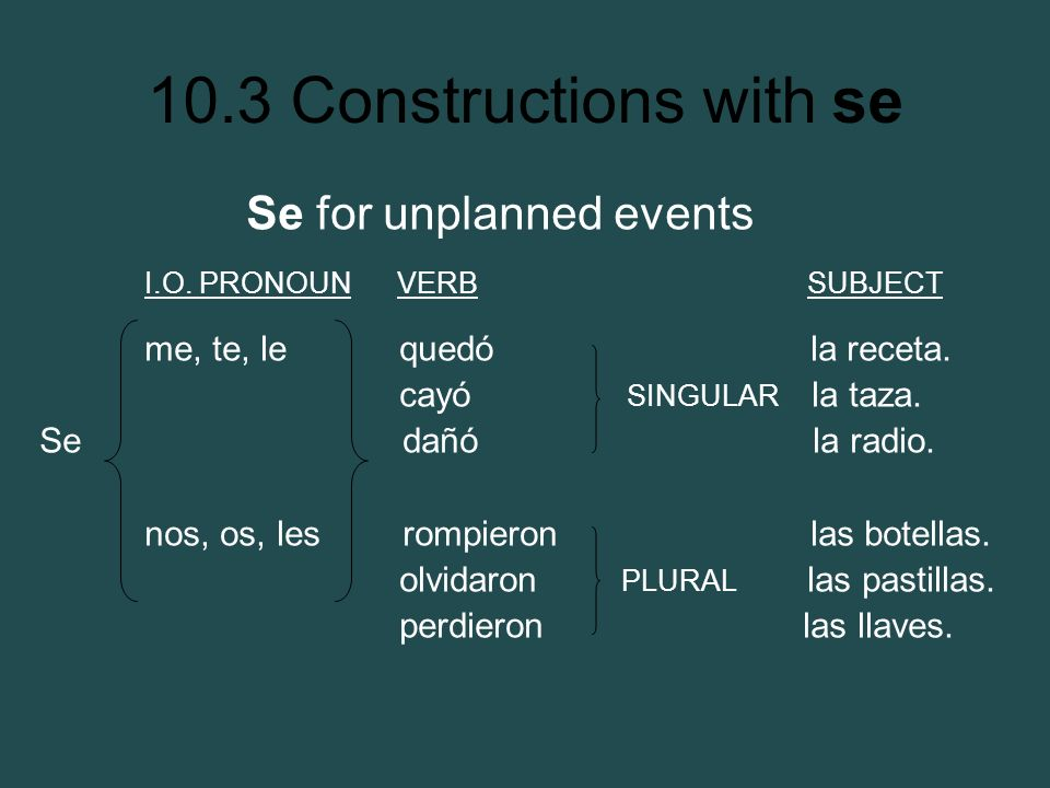 Se for unplanned events