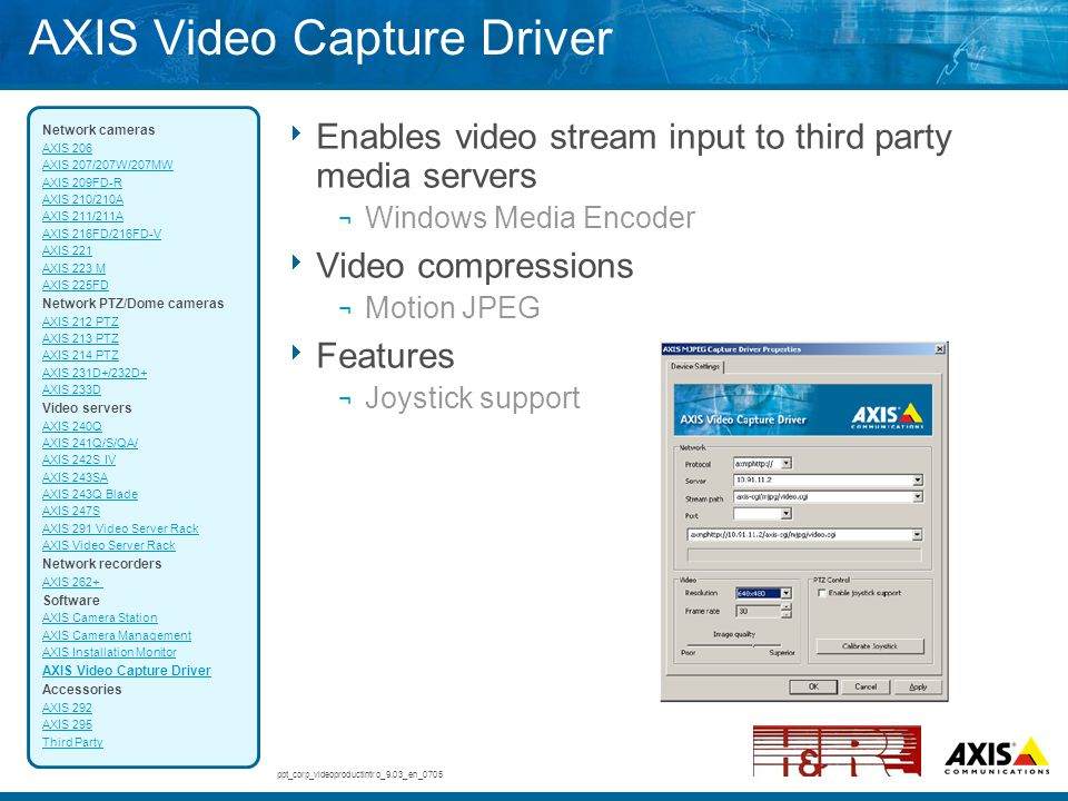 AXIS Video Capture Driver