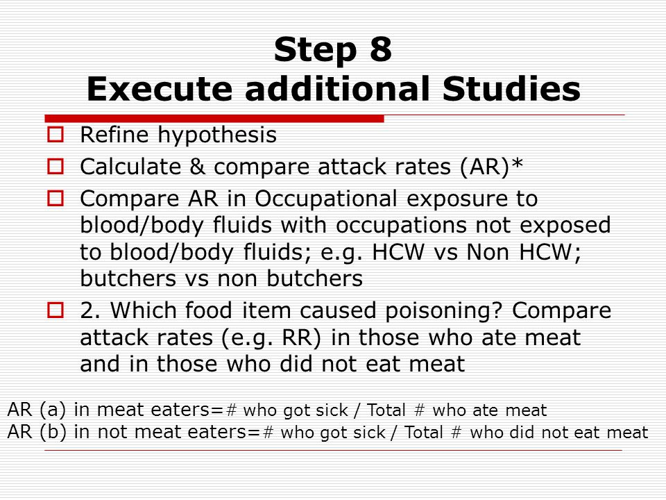 Step 8 Execute additional Studies