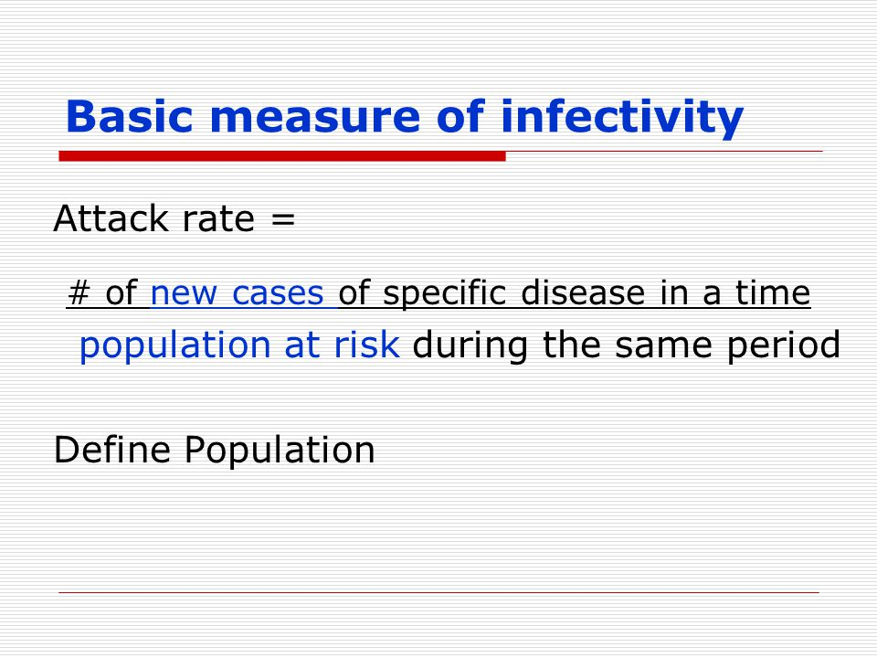 Basic measure of infectivity