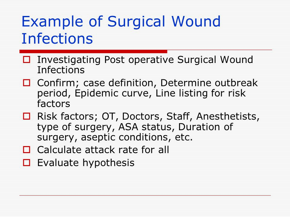 Example of Surgical Wound Infections