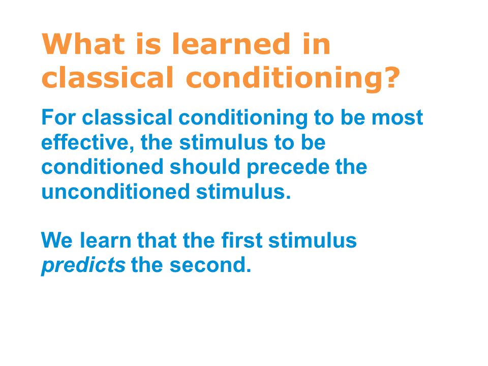 What is learned in classical conditioning