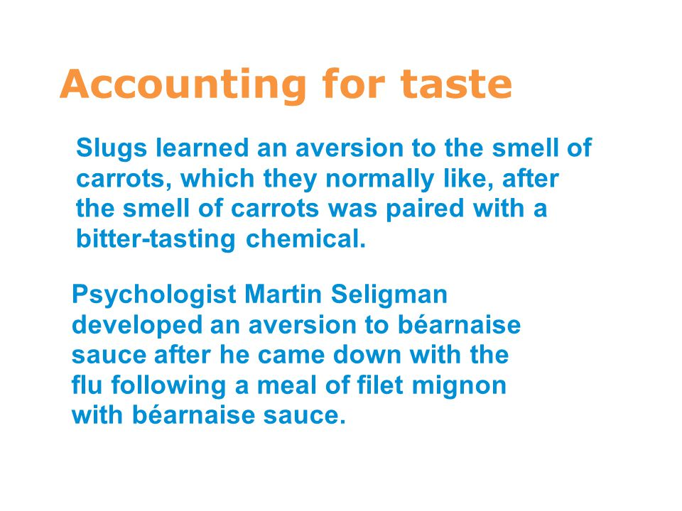 7 Accounting for taste.