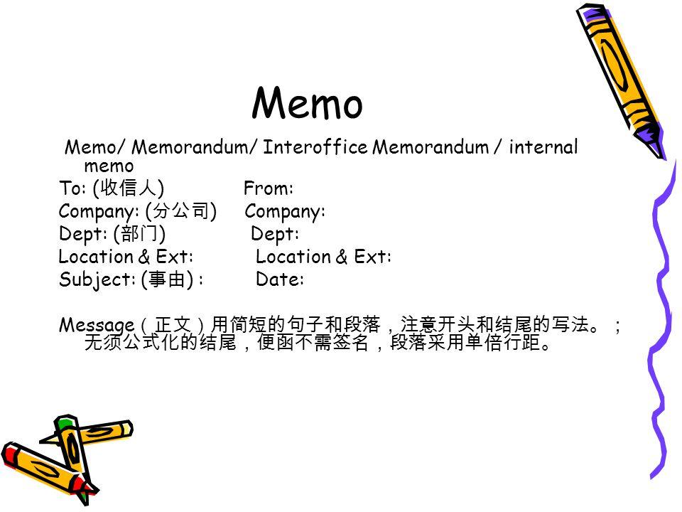 3 memo