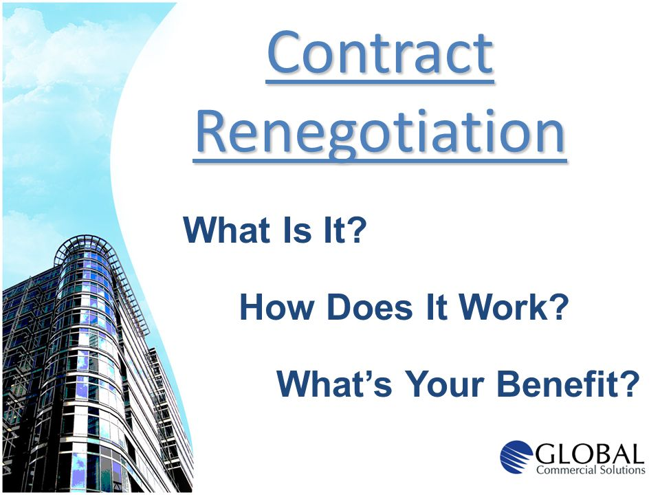 Contract Renegotiation