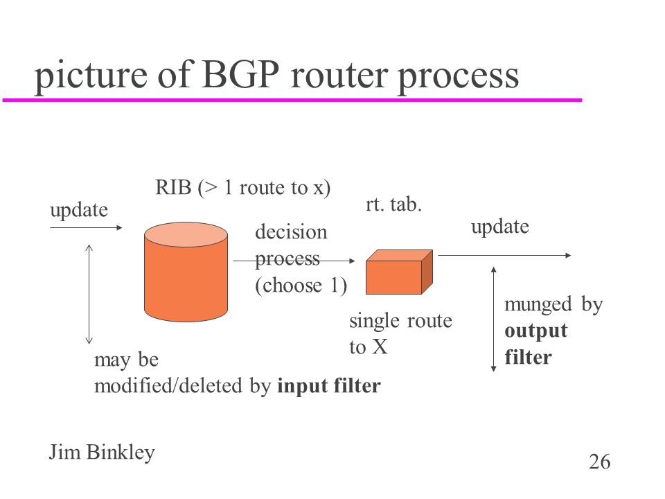 picture of BGP router process