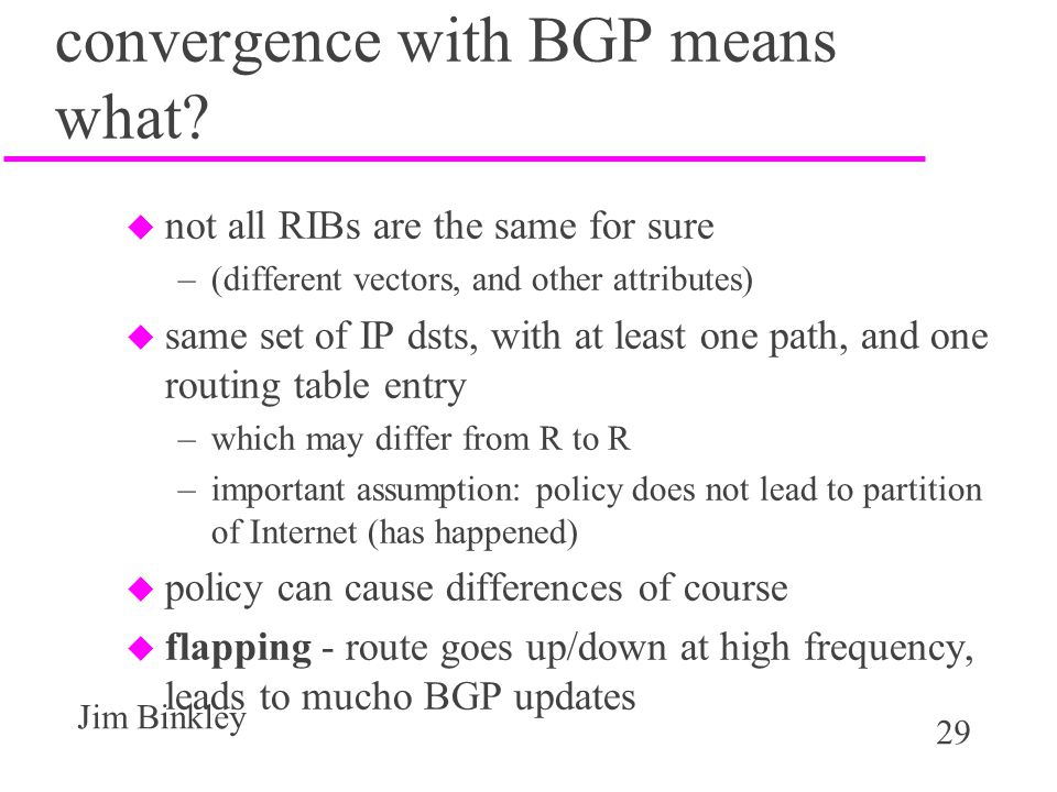 convergence with BGP means what