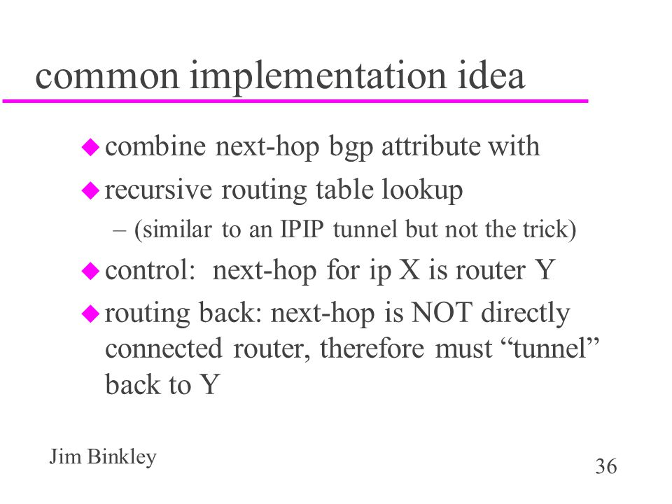 common implementation idea