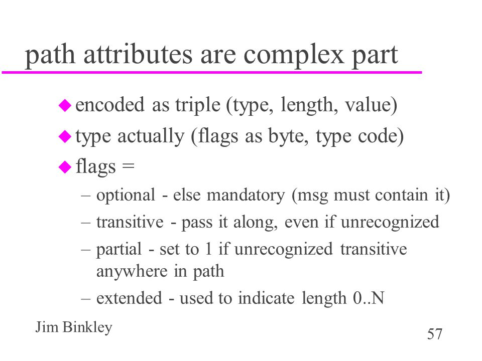 path attributes are complex part