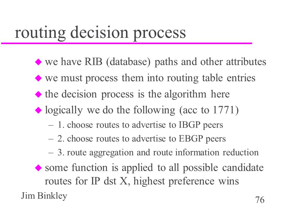 routing decision process