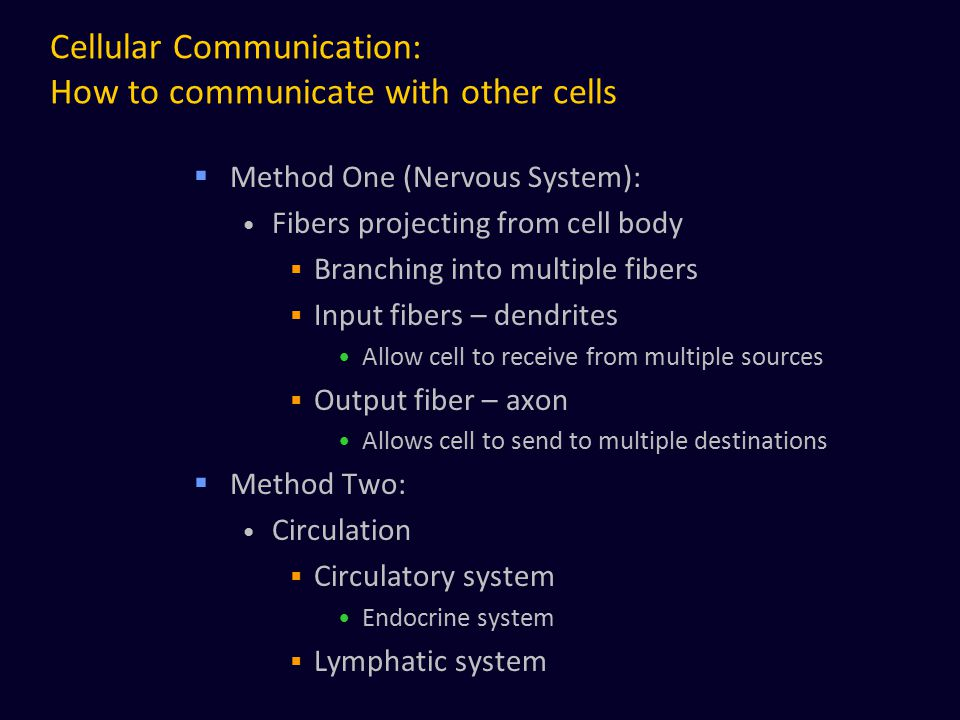 Cellular Communication: How to communicate with other cells
