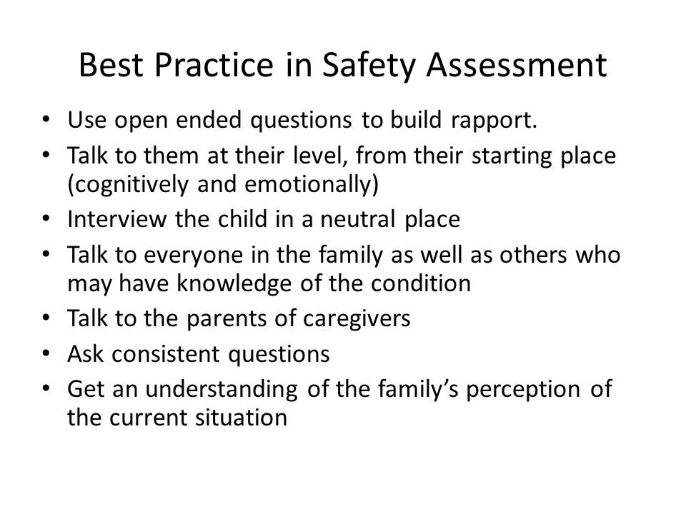 Best Practice in Safety Assessment