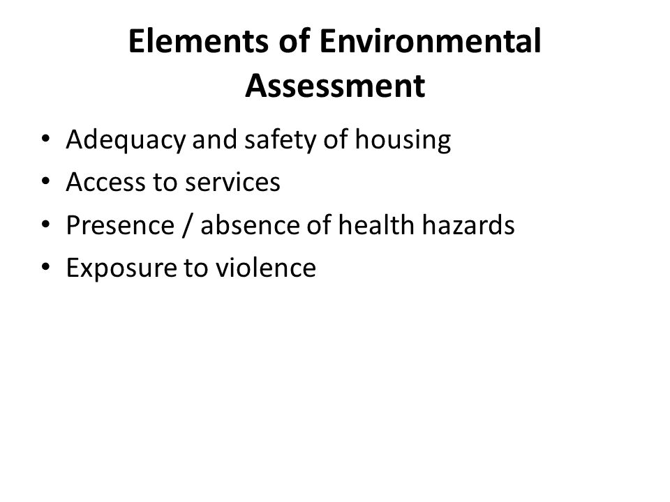 Elements of Environmental Assessment