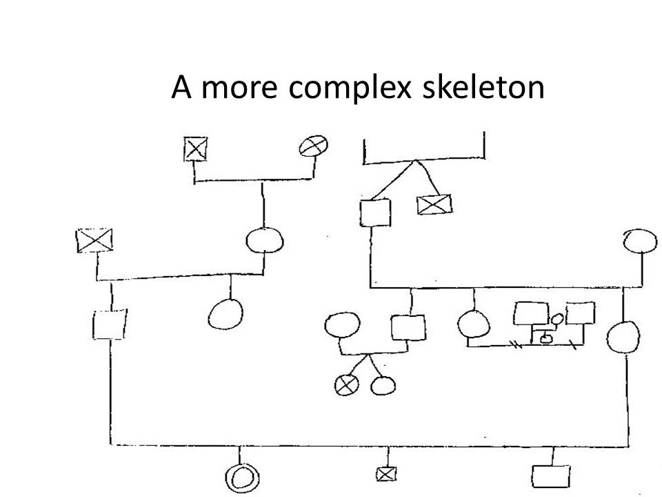 A more complex skeleton